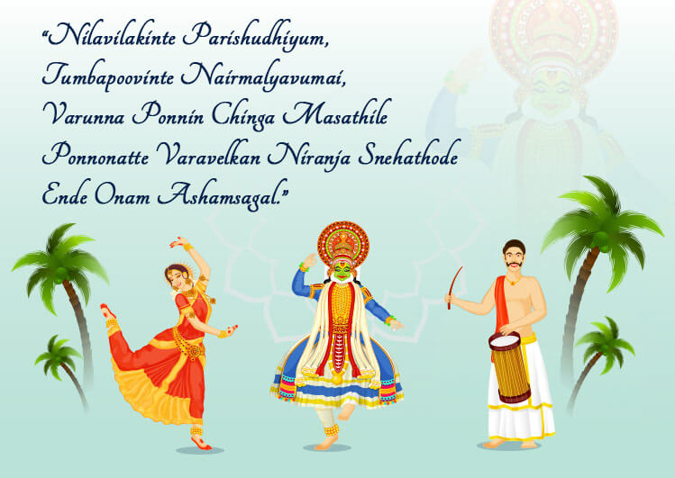 Happy Onam Wishes Dance