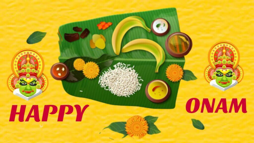Happy Onam Wishes Dish