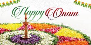 Happy Onam Wishes Flowers