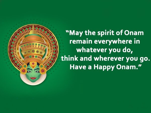 Happy Onam Wishes Green