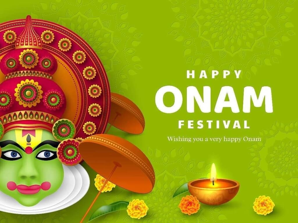 Happy Onam Wishes Greeting Card