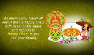 Happy Onam Wishes Greetings
