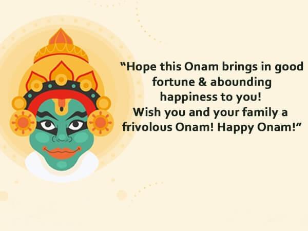 Happy Onam Wishes King Mahabali