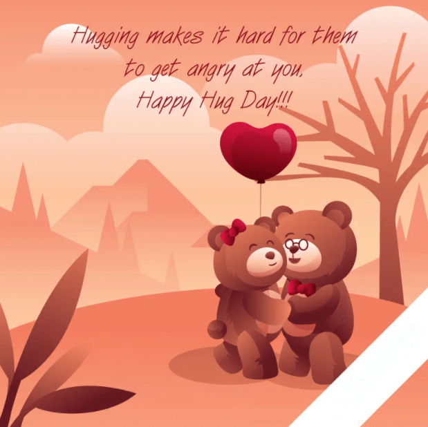 Happy Hug Day Wishes Balloons