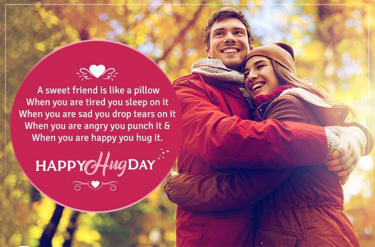 Happy Hug Day Wishes Couple