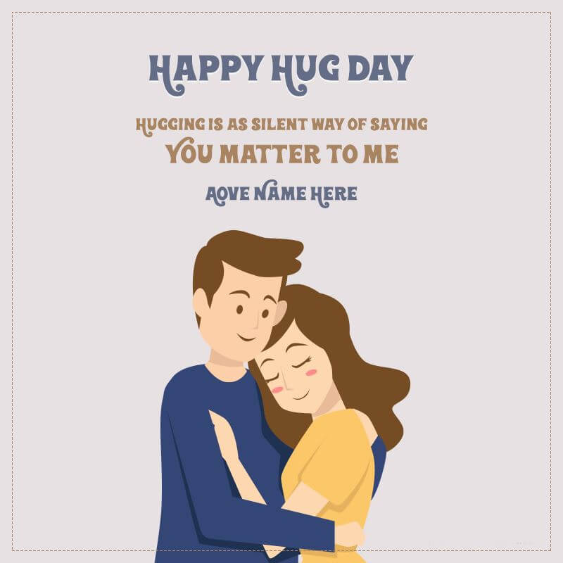 Happy Hug Day Wishes Greeting Card