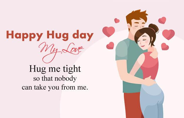 Happy Hug Day Wishes Message