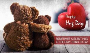 Happy Hug Day Wishes Teddy Bear