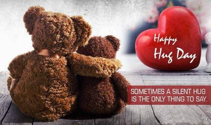 Happy Hug Day Wishes Teddy Bear