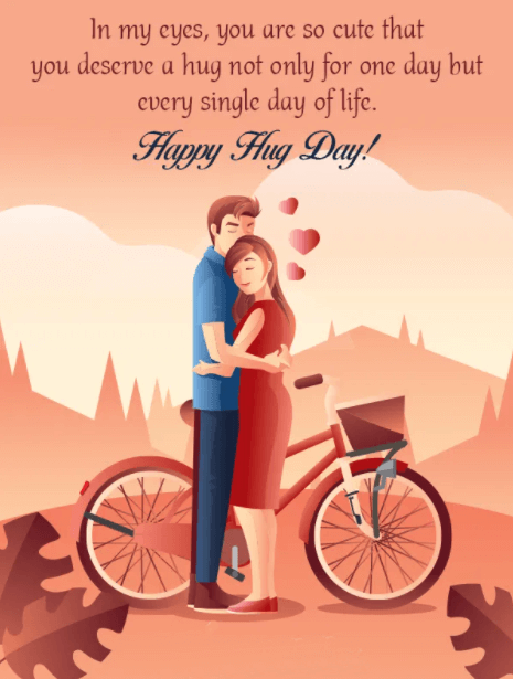 Happy Hug Day Wishes Wallpaper