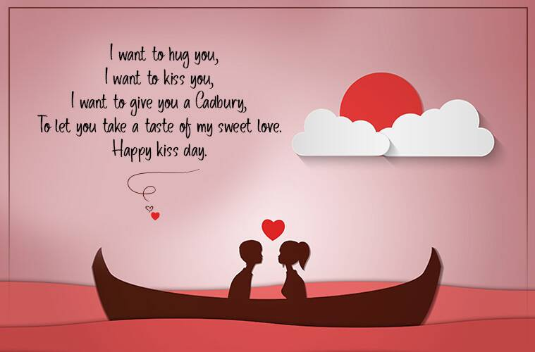 Happy Kiss Day Wishes Boat