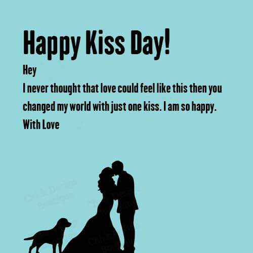 Happy Kiss Day Wishes Dog