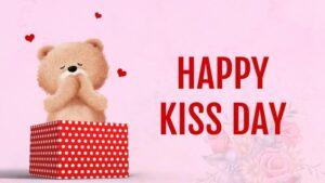 Happy Kiss Day Wishes Teddy Bear