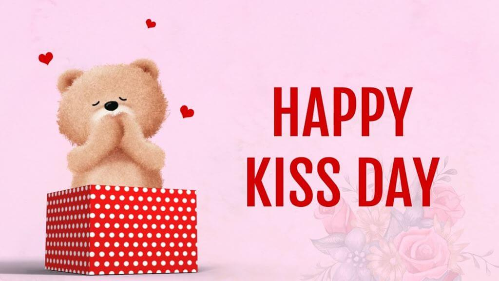 Happy Kiss Day Wishes Teddy Bear