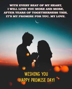 Happy Promise Day Wishes Night