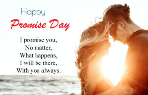 Happy Promise Day Wishes Sunset