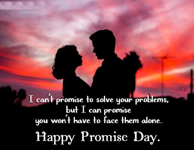 Happy Promise Day Wishes Sunset Couple