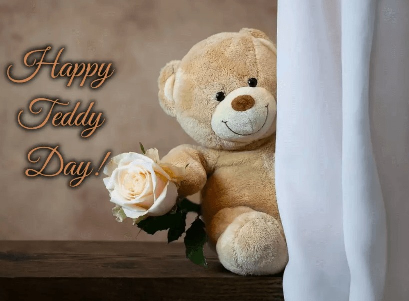 Happy Teddy Day Wishes Flowers