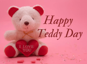 Happy Teddy Day Wishes Red Heart