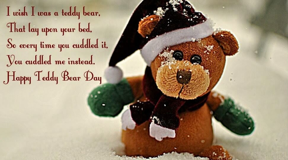 Happy Teddy Day Wishes Snow