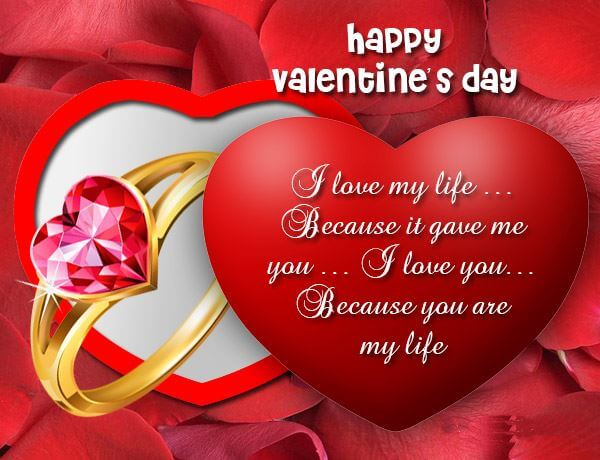 Happy Valentines Day Wishes Couple