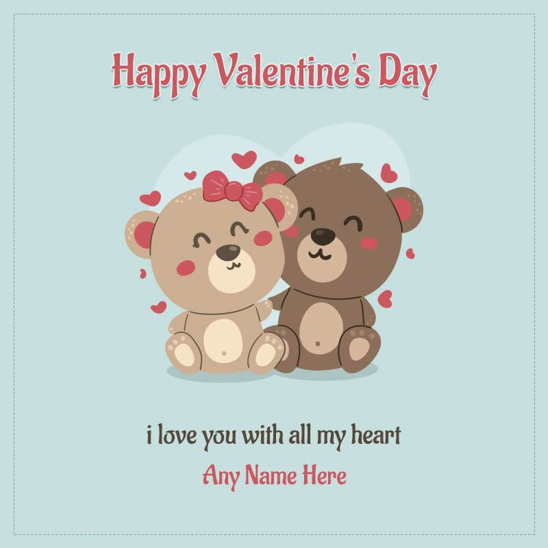 Happy Valentines Day Wishes Teddy Bear